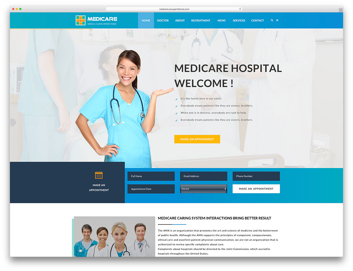 35 Best Health and Medical WordPress Themes For Hospitals ...