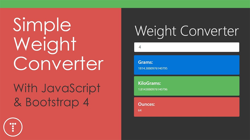 Simple weight converter