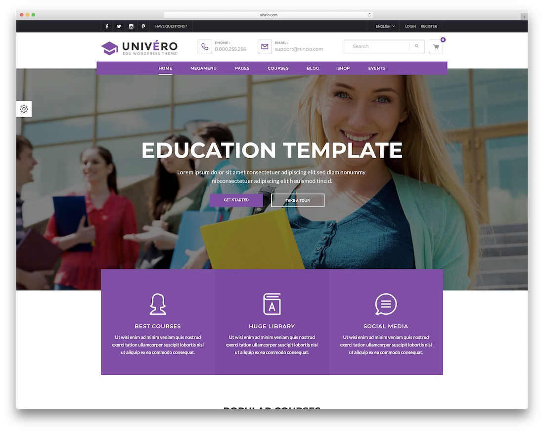 46 Awesome Responsive Education WordPress Themes For Online Courses
