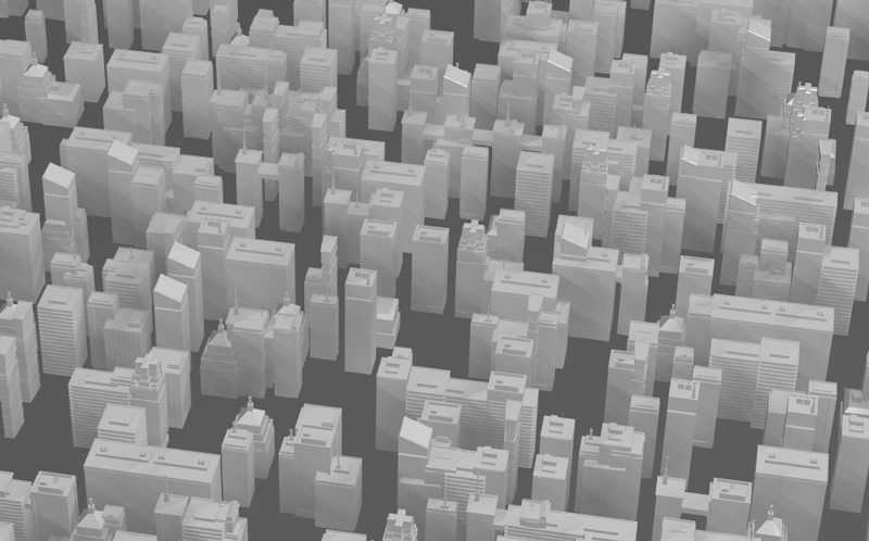Buildings Wave Animation with Three js - Web Design Tips