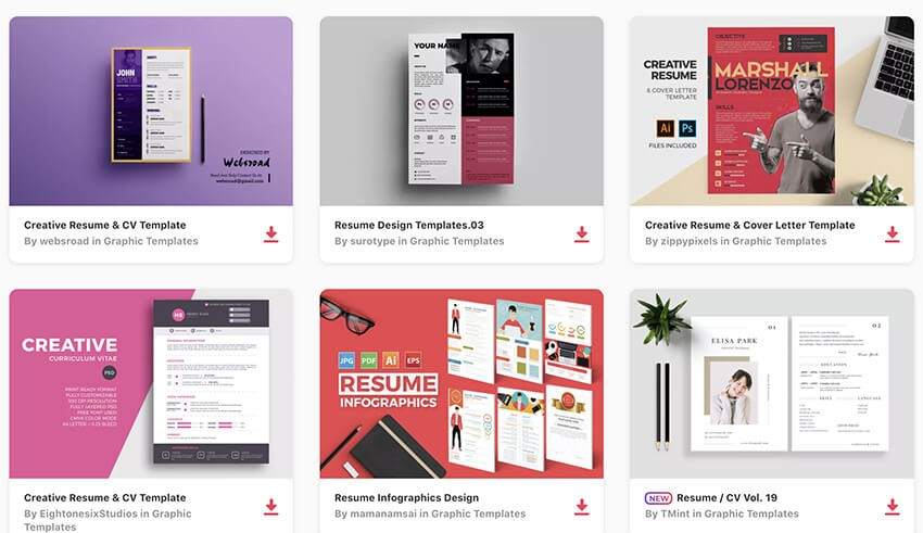 20 Top Visual Resume Templates For Artists Creatives For