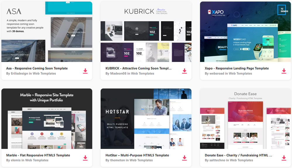 50 Free Bootstrap Templates & Themes - Web Design Tips