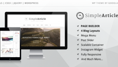 Simple Article - WordPress Theme For Personal Blog