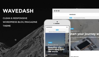 Wavedash - Clean Lifestyle Blog & Magazine WordPress Theme