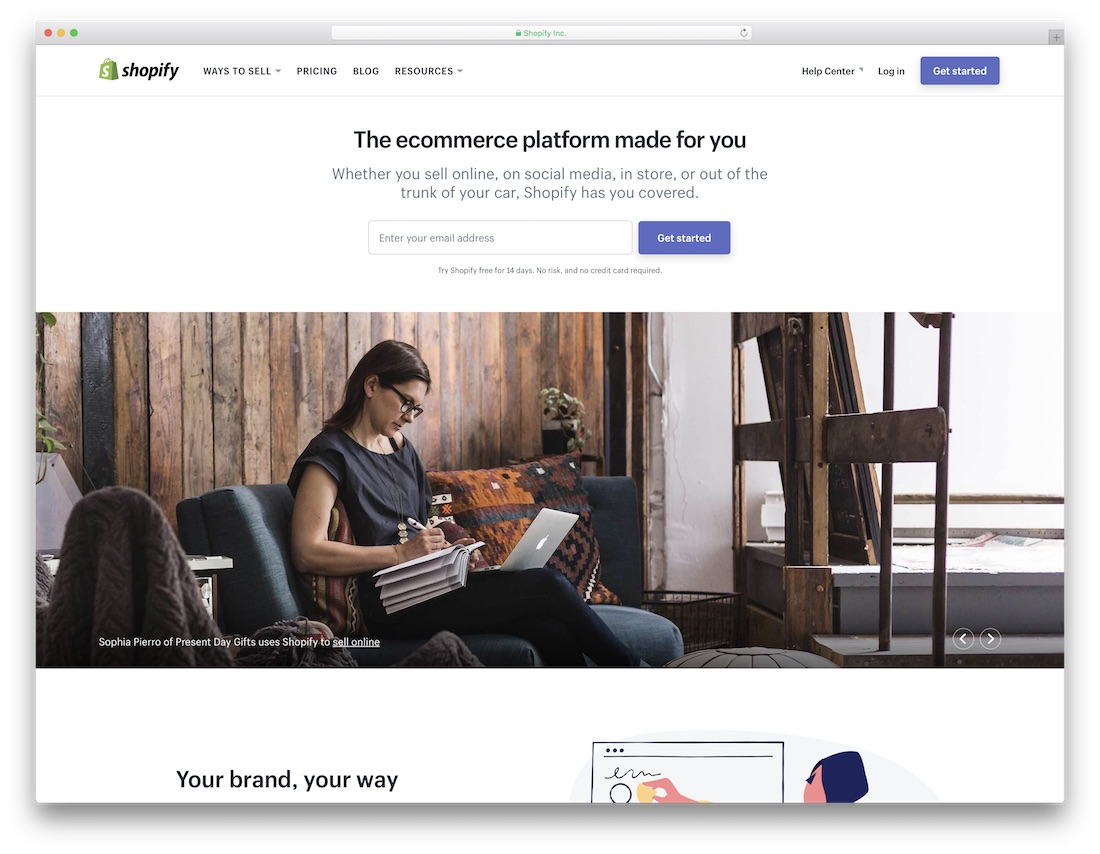 shopify website builder for seo