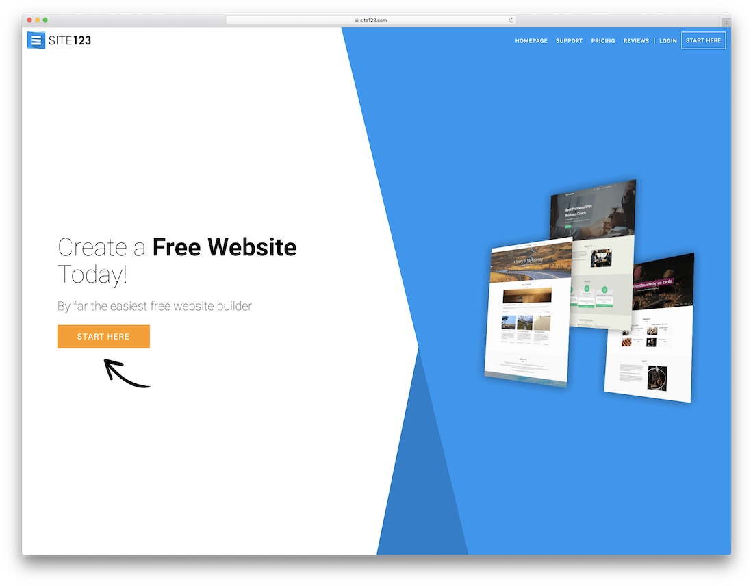 site123 website builder for seo