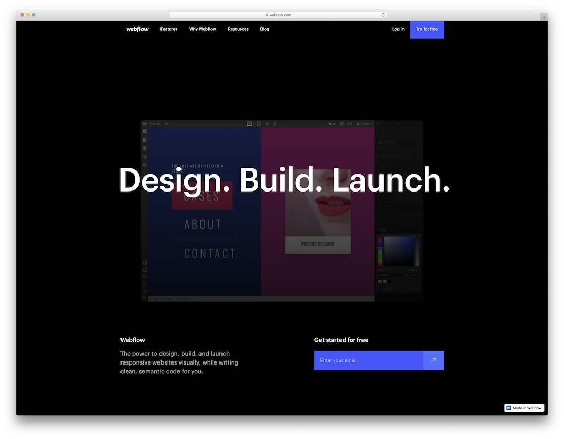 webflow website builder for seo