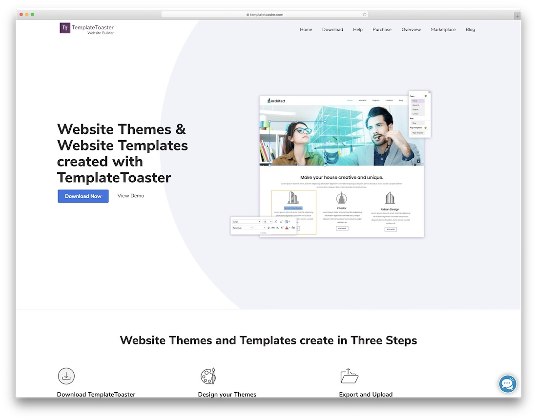 templatetoaster website builder for seo