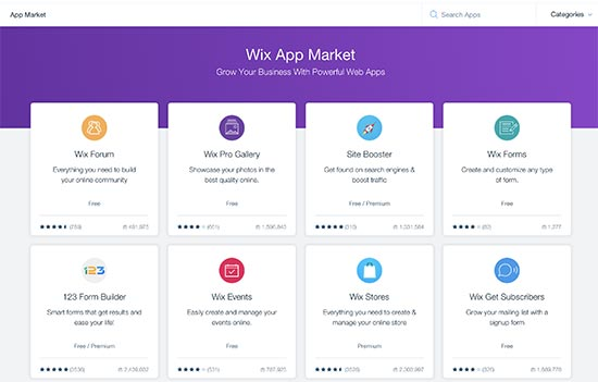 Wix App Marketplace