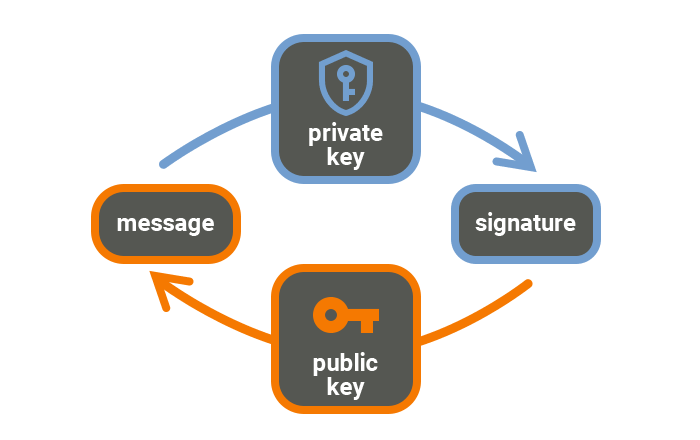 Digital signature scheme steps