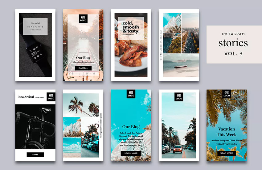 10 Free Instagram Story Templates - Web Design Tips