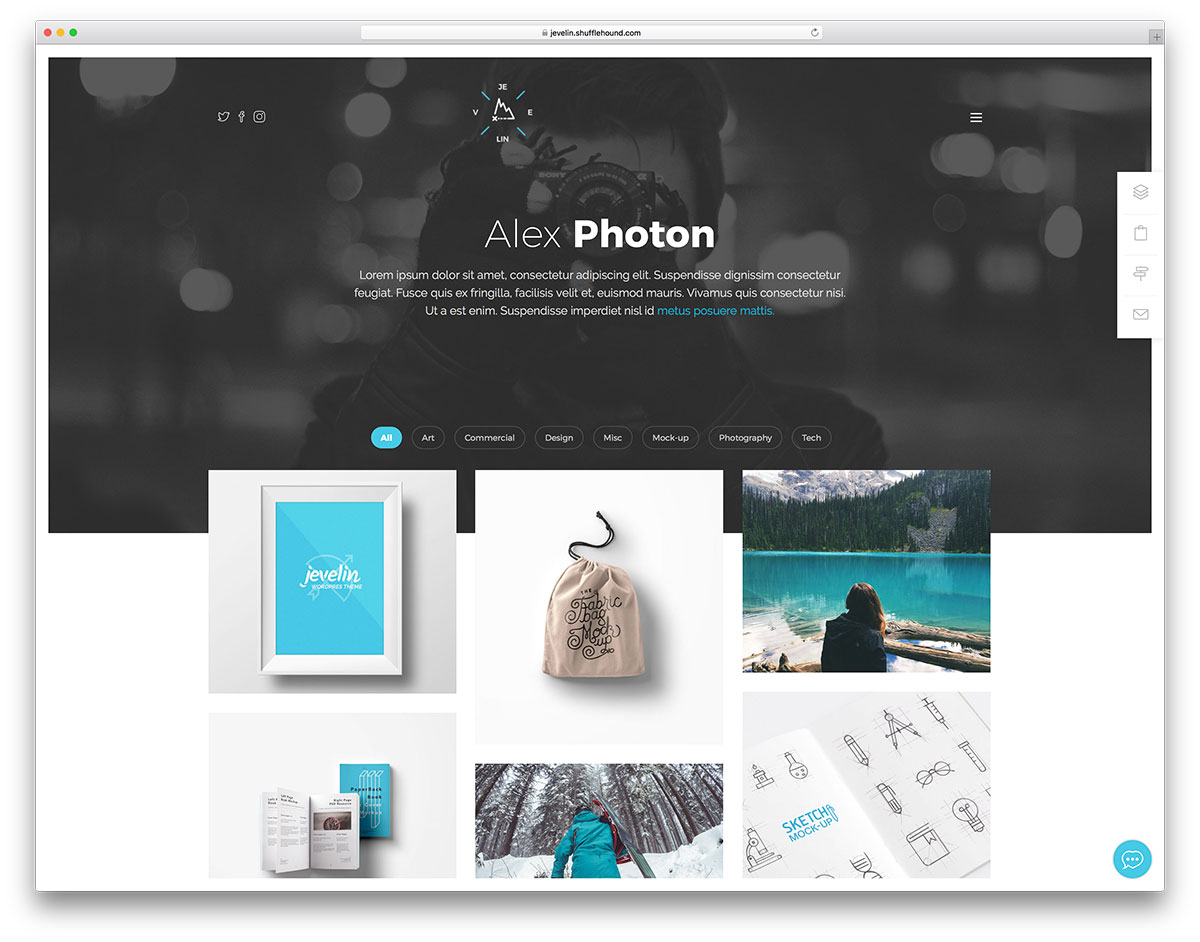 Jevelin Is A Very Flexible WordPress Theme In Essence The Developers Made It With Success To Fit Any Professional Or Personal Topic You Might Explore