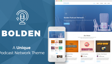 Bolden - A Podcast Network WordPress Theme