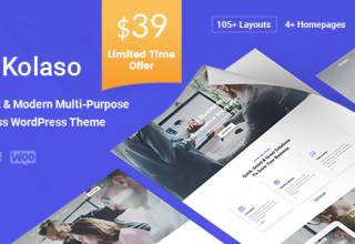 Kolaso - Modern Multi-Purpose WordPress Theme