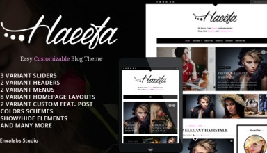 Haeefa - Easy Customizable Blog Theme
