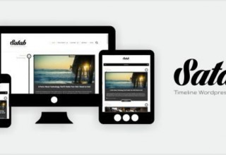 Satab - Timeline WordPress Blog Theme