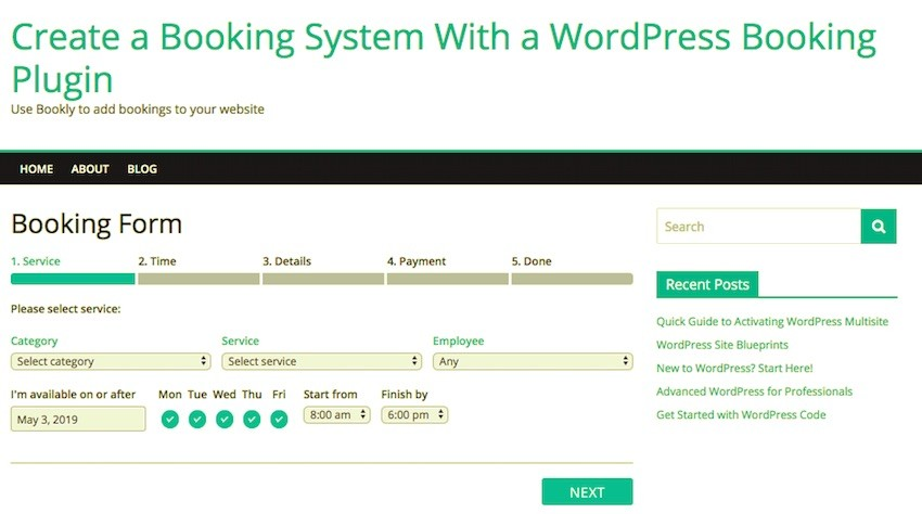 Create a Booking System With a WordPress Booking Plugin