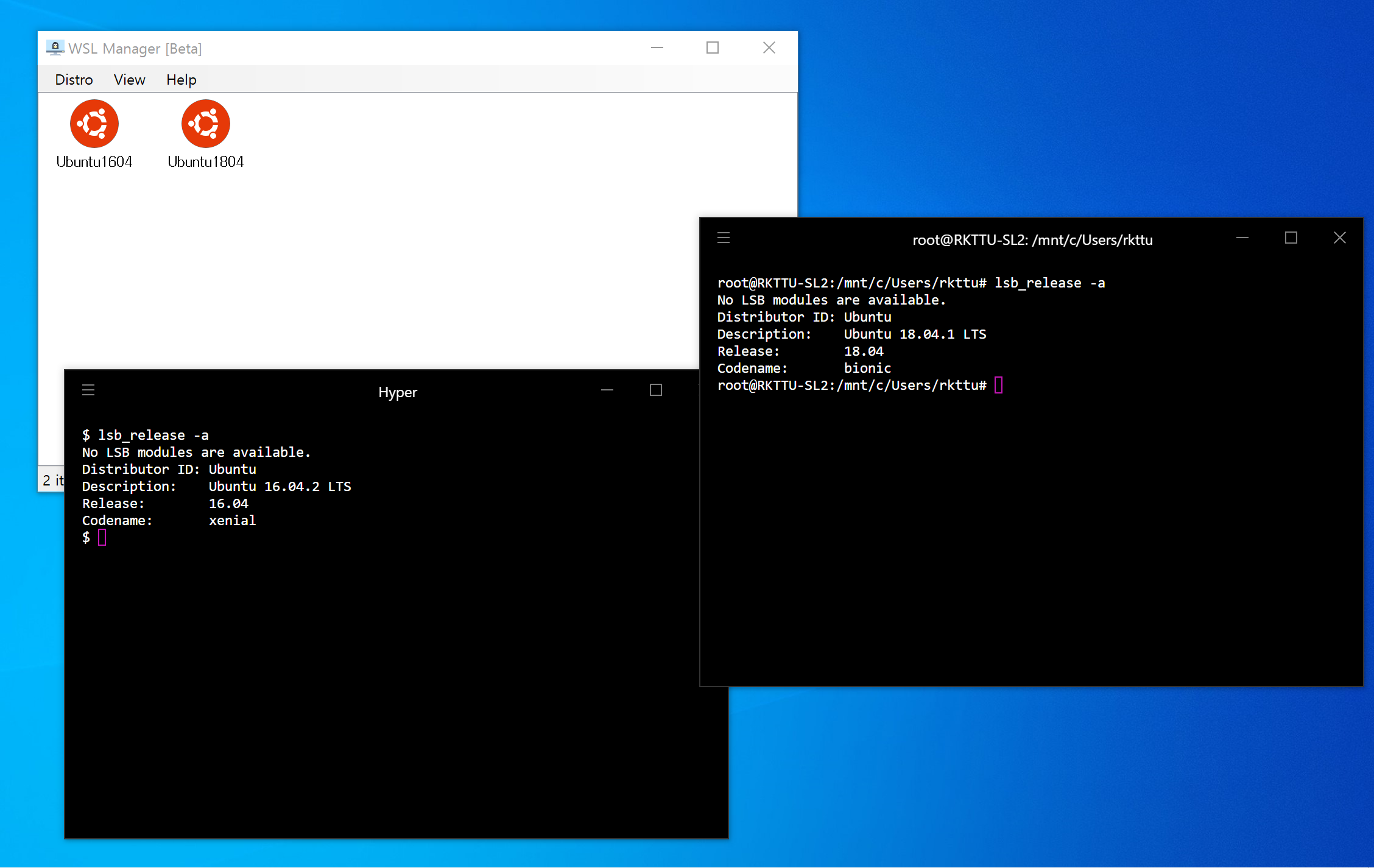 Windows 10 WSL Distro Manager GUI Tool - Web Design Tips