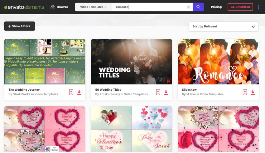 10 Romantic Video Templates With Retro Design (for After