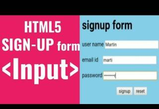 Learn Sign up form in just 10 mins input html5