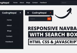 Responsive Navbar with Search Box in HTML CSS amp JavaScript