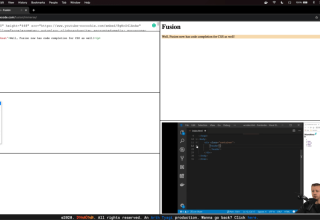Watch tutorials and code in HTML CSS and JS from