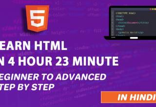 HTML Tutorial in Hindi Complete HTML Course For Beginners