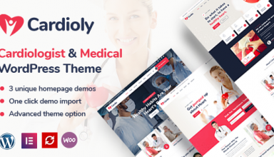 Cardioly - Cardiologist and Medical WordPress theme